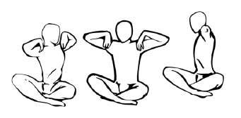 Крийя спинальных энергий, упражнение 3