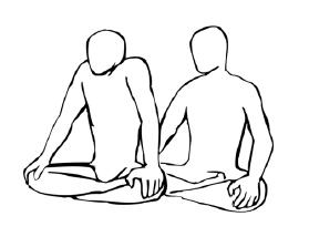 Крийя спинальных энергий, упражнение 6, пожимания плечами